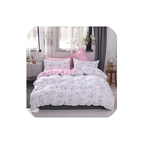 LOVE-JING Green Lemon Winter Bedding Sets Full King Twin Queen King Size 4Pcs Bed Sheet Duvet Cover Set Pillowcase Without Comforter,B29,Sold 1 Pillowcases,Flat Bed Sheet