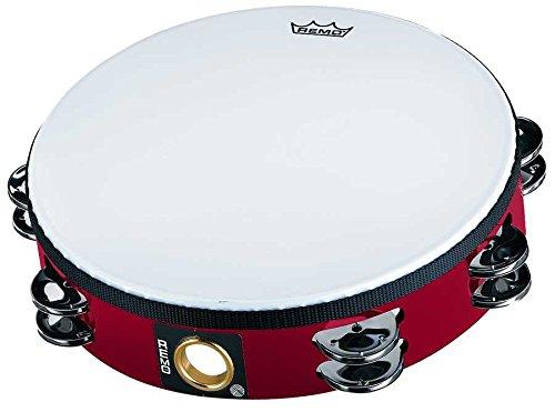 """Remo TA-5210-52 Fiberskyn Tambourine - Quadura Deep Red, 10"""""""