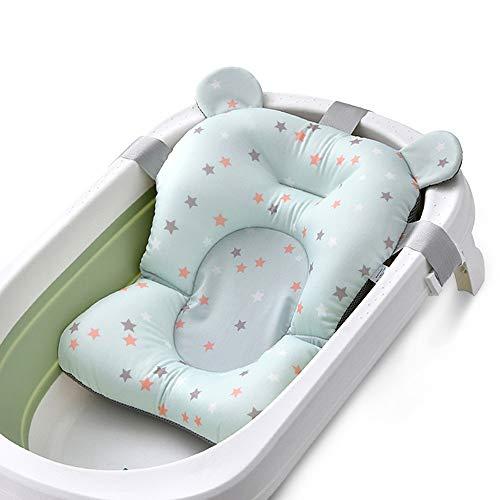 Baby-badmat pasgeborenen baby-bad artiek badkuip NET badkamer bed verschuiven kan Lie universele spons ondersteuning badmat zitten opvouwbare douchebak met zuigelingsriem