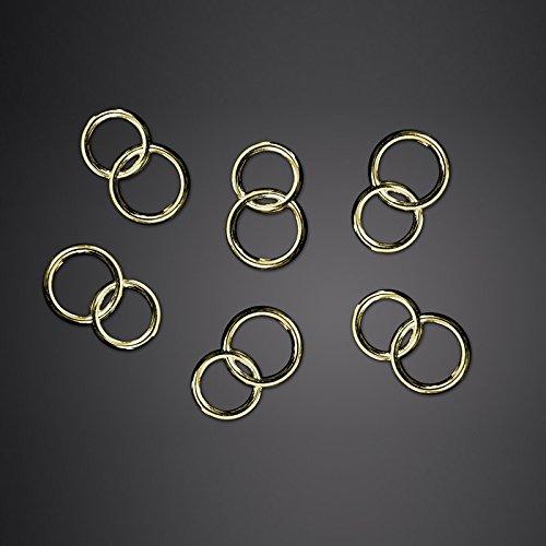 25 Dekoelemente Goldene Ringe