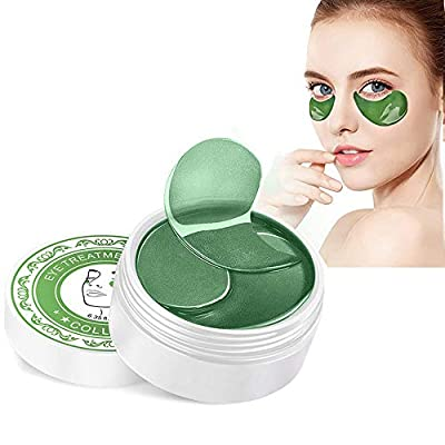 Under Eye Mask, Soogoo 60PCS Collagen Eye Gel Pads Patches Treatment with Anti-Aging Hyaluronic Acid for Moisturizing & Reducing Dark Circles Puffiness Wrinkles