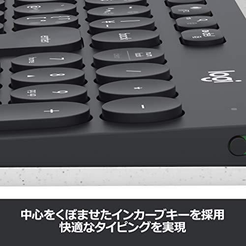 ロジクールワイヤレスキーボードK780BluetoothUnifyingワイヤレス無線キーボードwindowsmacChromeiOSAndroid国内正規品2年間無償保証