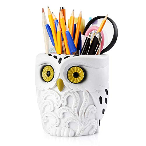 Pen Pencil Holder,Pen Holder Desk Organizer Decoration,Luxury Gift and Exquisite Handicraft (Owl)