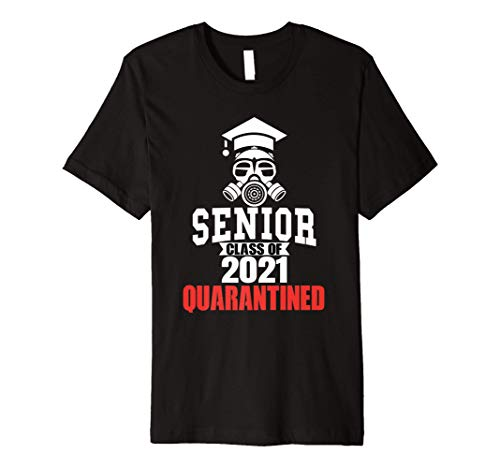 Class of 2021 Quarantine Seniors Gas Mask Premium T-Shirt