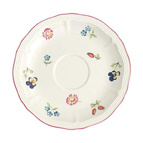 Villeroy & Boch Petite Fleur Untertasse, 15 cm, Premium Porzellan, Bunt