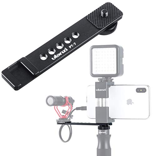 Cold Shoe Mount Vlog Cold Shoe Bracket Microphone Extension Plate with 1/4'' Tripod Screw Thread for GoPro 7/6/5 Sony RX0 II DSLR Vloggers Videomakers