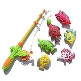 Interessantes Spielzeug Angeln Spiel Spielzeug 7 Stücke Magnetische Angelrute Fisch Modelle...