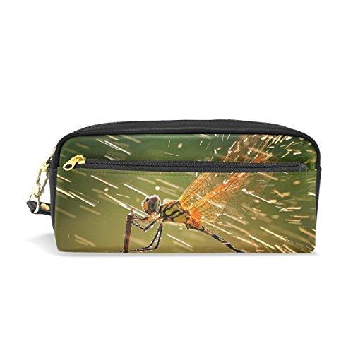Eslifey Tragbare Tasche Brave Animal Libelle Sprays Flüssigkeiten PU Leder Schule Stifteetui Stifteetui Stiftebeutel Wasserdicht Kosmetik Tasche Makeup Beauty Case