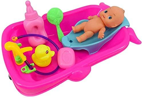 TXXM Conjunto de Bebé Adulto rol Los Juegos de simulación del Juego de la muñeca de Juguete de baño en Agua de la bañera del Desarrollo Preescolar w/muñeca Red de Regalo