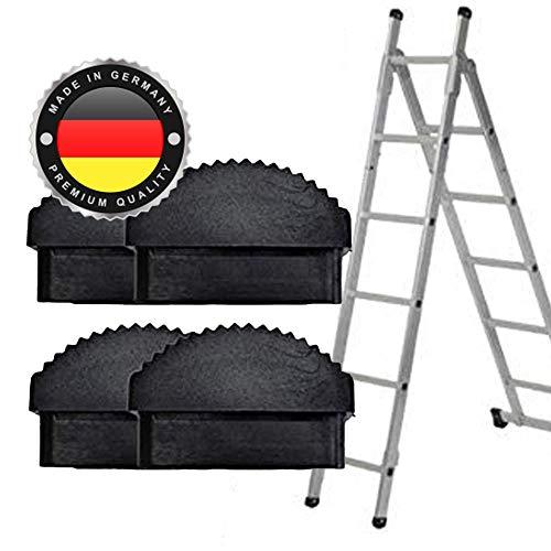 Leiter Gummi-Füße Fuß Gummi Traversenfußkappe Kappe Ersatz Anti-Rutsch (58 x 20mm, 4 STK)