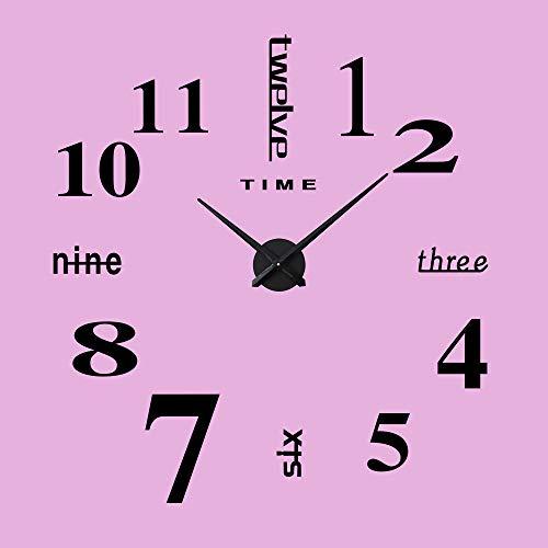 MYYXGS Moderne Wanduhr Big Watch Sticker 3D Aufkleber Römische Zahlen Wanduhr Home Office Abnehmbare Dekoration Leben, 234, Set