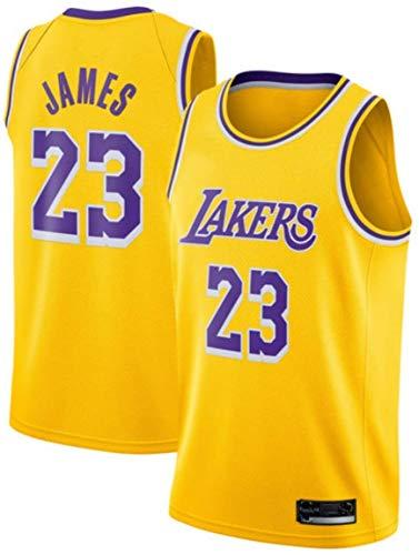 Oxyco Camisetas de fanático del Baloncesto Masculino, 4 Alex Caruso Los Angeles Lakers, Gran Material Tops de la Nueva Temporada (Yellow 23, L)