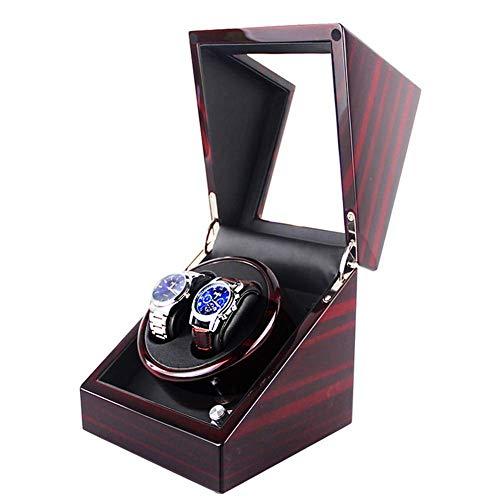 JHSHENGSHI Enrollador de Reloj, Caja giratoria de Reloj automática, 4 Tipos de Caja de presentación de Reloj en Modo Giratorio, enrollador de Reloj mecánico de Madera para Hornear