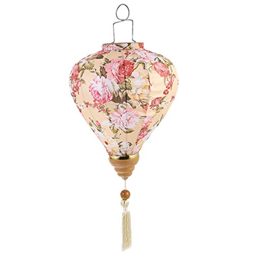 Wakauto - Farol de flores japonesas de seda oriental para decoración de Año Nuevo, decoración para festivales y fiestas de otoño