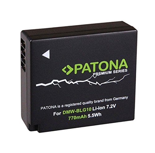 PATONA Premium (770mAh) - Ersatz für Akku Panasonic DMW BLG10 E - Zu Panasonic Lumix DC GX9 TZ202 TZ96 TZ91 DMC TZ101 TZ81 GF6 GX7 GX80 LX100 S6 usw.