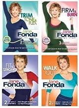 Jane Fonda 4 DVD Collection: Prime Time Walkout/Fit & Strong/Trim, Tone & Flex/Firm & Burn
