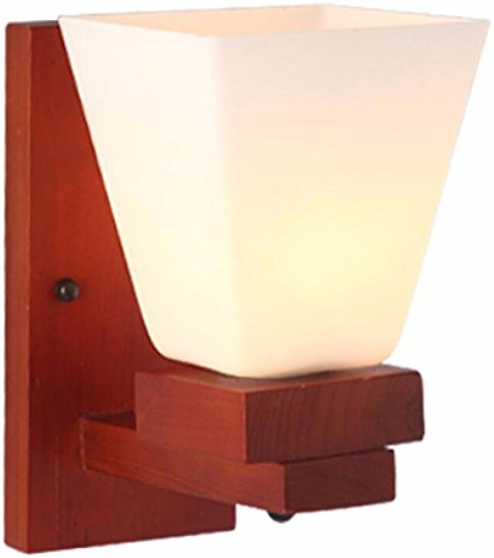 StiefelU LED Wandleuchte nach oben und unten Wandleuchten Massivholz Studie Schlafzimmer Nachttischlampe Flur Wohnzimmer Wand Lampen LED