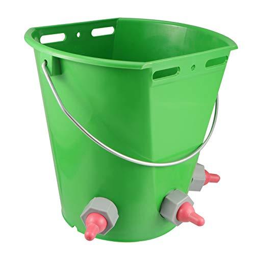 DOITOOL Cubo de Leche de Cordero de 8L Múltiples Pezones de Alta Capacidad Cubos de Alimentación de Leche de Cordero Cubo de Alimentación de Leche de Oveja para Ganado de Oveja Verde
