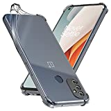 ebestStar - Funda Compatible con OnePlus Nord N100 Carcasa Gel Silicona, ángulos Reforzados, Ultra Claro Case Cover, Transparente [Phone: 164.9 x 75.1 x 8.5 mm, 6.5'']