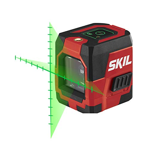 SKIL Self-Leveling Green Cross Line Laser with Projected Measuring...
