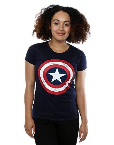 Captain america Distressed Logo Women's T-Shirt (XL)