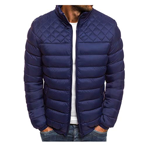 MAYOGO Jacke Herren Leichte Steppjacke Winterjacke Wattierte Jacke Puffer Jacke Winter Jacke (DunkelBlau, M)