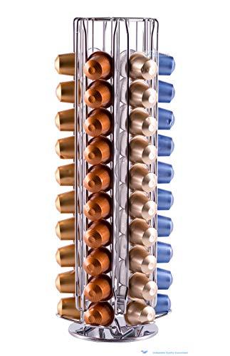 Drehbarer Kapselhalter spender für 60 Nespresso Kaffeekapseln von unübertrefflicher Qualität| Babavoom® NP60