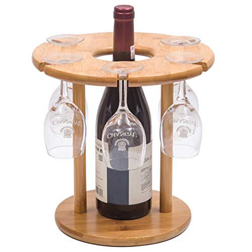 LQIQI Botelleros Vino Apilable Originales Rústicos Portavasos Colgante Creatividad Al Revés Mueble Vinoteca Manejable Organizador De...