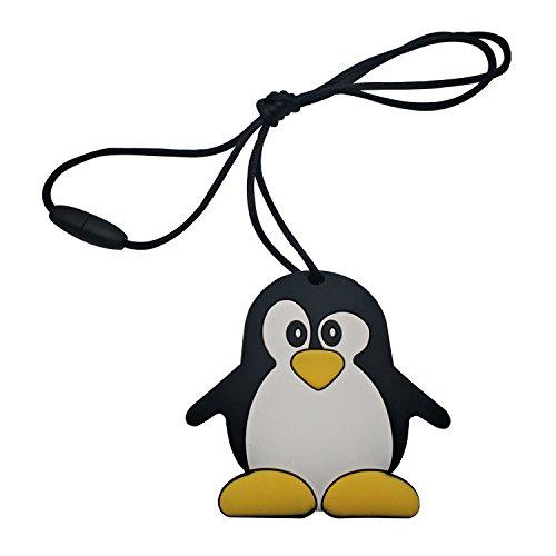 Inchant Chewable Penguin Silicone Teething Pendant Toy - BPA & Phthalates...