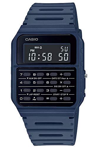 Casio Vintage Edgy Digitaluhr mit Taschenrechner Blau CA-53WF-2BEF