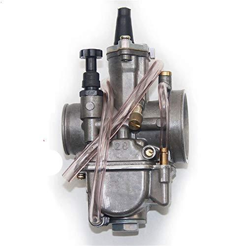 Carburador de la motocicleta 2T 4T universal Keihin Koso OKO motocicleta Carburador Carburador, 21 24 26 28 30 32 34 mm Con Power Jet, for las carreras de Moto Carburador (Size : 28mm Keihi)