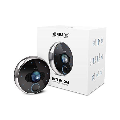 FIBARO - Intercomunicador/videoportero inteligente Full HD, 30 fps, 180 ° Ángulo de visión, infrarrojo y IP54, Fgic-002, color negro