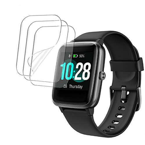 smaate Soft TPU Screen Protector for VeryFitPro ID205L ID205 ID205U ID205G Smart watch, and compatible with Letsfit EW1, 3-PACK and Extra, Anti-Scratch, Anti-shatter, Bubble self-healing ID205LPTR02