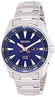 Seiko Men SNE391P Year-Round Analog Solar Powered Silver Watch (B014HBH1UO) | Amazon price tracker / tracking, Amazon price history charts, Amazon price watches, Amazon price drop alerts