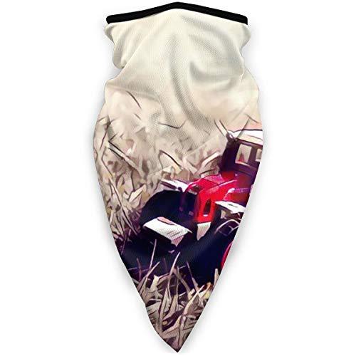 BJAMAJ kleine rode speelgoed trekker in gras outdoor gezicht mond masker winddicht sport masker ski masker schild sjaal Bandana mannen vrouw