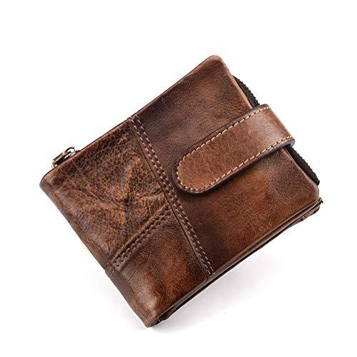 CHAOY voorvak minimalistisch leer slim portefeuille RFID Blocking Bifold stijlvolle portemonnee medium grootte met 1 ID-venster voor mannen en vrouwen 3