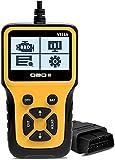 Veepeak - Lettore di codici luce OBD2 universale per controllo dello scanner OBD II, strumento diagnostico con disponibilità I/M, per controllo smog e dati in tempo reale