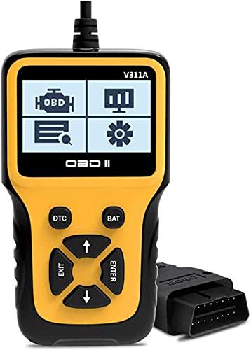 Veepeak Escáner OBD2 universal de comprobación del motor, lector de código de luz OBD II, herramienta de análisis de diagnóstico con I/M listo para comprobar el humo y datos en vivo