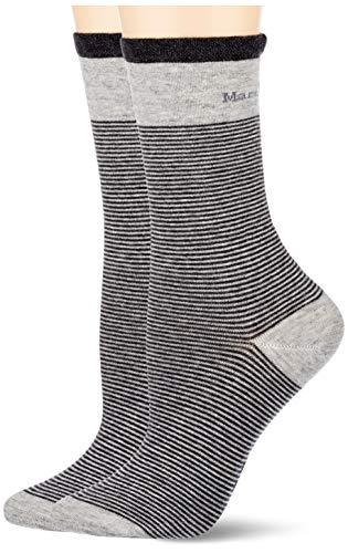 Marc O'Polo Body und Beach Damen Multipack W 2-Pack Socken, Grau, OneSize_1