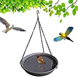 YELL Hanging Bird Bath, Bird Drinking for Outdoor Garden Yard, Bird Feeder Bird Drinking with Hook and Chain for Attracting Pet Hummingbird