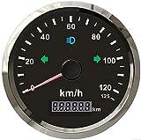 ELING GPS Velocímetro Odómetro 0-125km/h para Coche Camión Motocicleta ATV UTV 85MM
