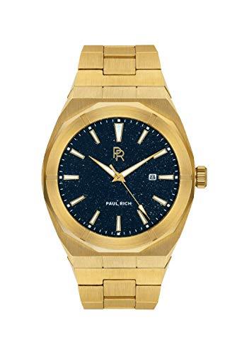 Paul Rich Star Dust Gold - Reloj automático para hombre (45 mm, acero inoxidable)