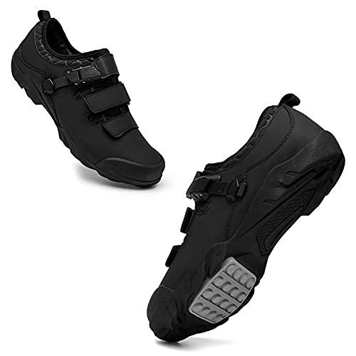 JQKA Scarpe da ciclismo professionali da strada, non bloccanti, suola rigida, leggere e resistenti all'usura (taglia: 41, colore: nero)
