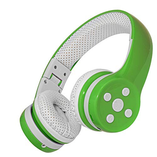Kids Wireless Headphones Bluetooth, 15 Hours Play time, Scratch Proof Safe 93db Volume Limited Yusonic Kid Headphones with Mic for Cell Phones TV Toddler Tablet Game School Boys Girls (Green