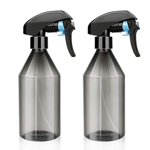 2Pcs Botellas de Spray 300ml Vacías Botella de Aerosol Plástico Spray Pulverizador Agua de Gatillo Botella Spray Vacios Contenedor rellenable transparente para Plantas Lejía Limpieza Jardinería Cocina