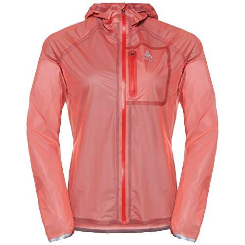Odlo Damen Zeroweight Dual Dry Jacke, hot Coral, XS