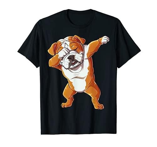 Dabbing English Bulldog T shirt Boys Dab Dance Puppy Lover T-Shirt