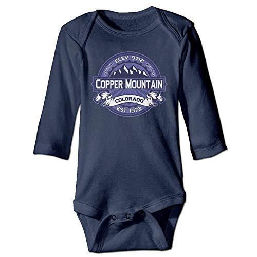 MSGDF Unisex Infant Bodysuits Copper Mountain Midnight Boys Babysuit Long Sleeve Jumpsuit Sunsuit Outfit Navy