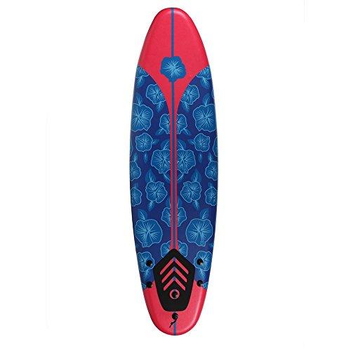 North Gear 6ft Surfing Thruster Beach Surfboard Foam (Blue/White)