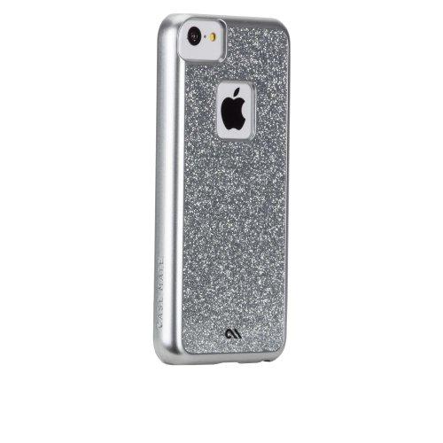 Case-Mate - Carcasa con purpurina para iPhone 5C, color plateado